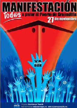 El 27 de Noviembre todos a parar el  Puerto de Granadilla.